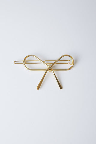 simple hollow Bow hair pin for women