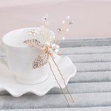 crystal & pearl handmade hair clips bridal hair Jewelry