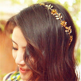 vintage hold Leaf headband head chain for women