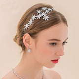 elegant sparkly crystal star hair hoop for women
