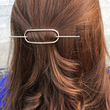 trendy gold/silver color geometric shape hair pin for women