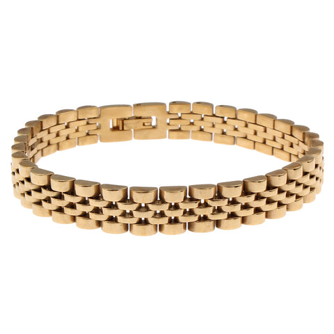 gold color stainless steel bracelet & bangle for men