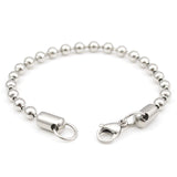 stainless steel beaded ball clasp chain bracelet