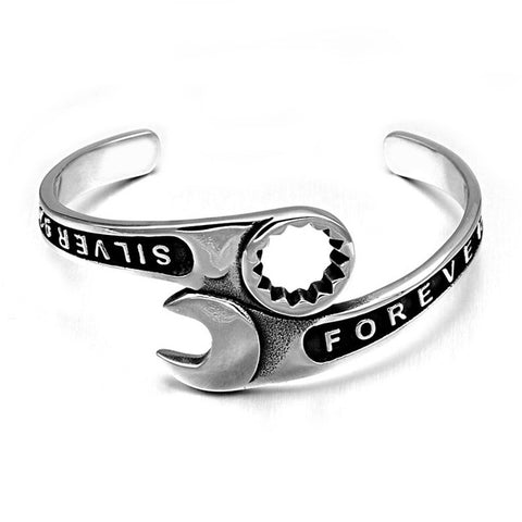 stainless steel wrench bracelet bangle for men