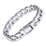 wide stainless steel punk style link chain bracelet & bangle