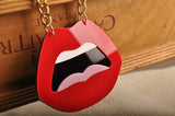 large red lips acrylic sexy pendant necklace for women