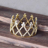 cute little crystal crown tiara hair band for baby