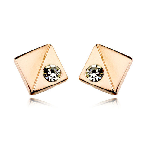 punk style square stud earrings