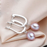 elegant natural freshwater pearl water drop earrings for women