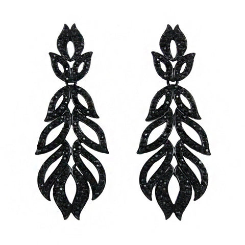 elegant long leaf earrings for women