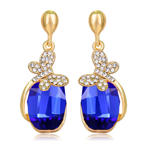 luxury big crystal dangle earrings for women