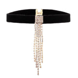 crystal choker tassel necklace for women