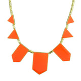 geometric monogram statement necklace for women