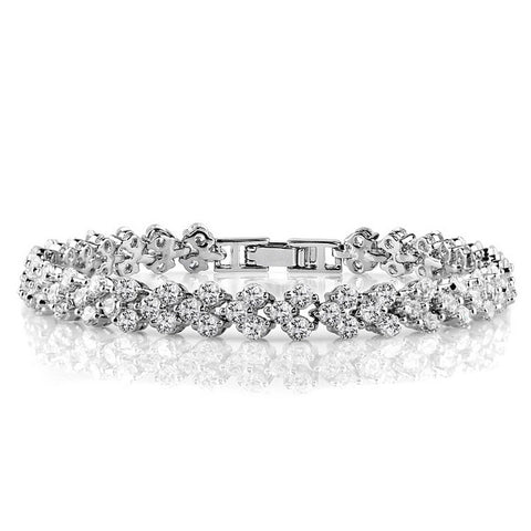 elegant cubic zirconia bracelet for women