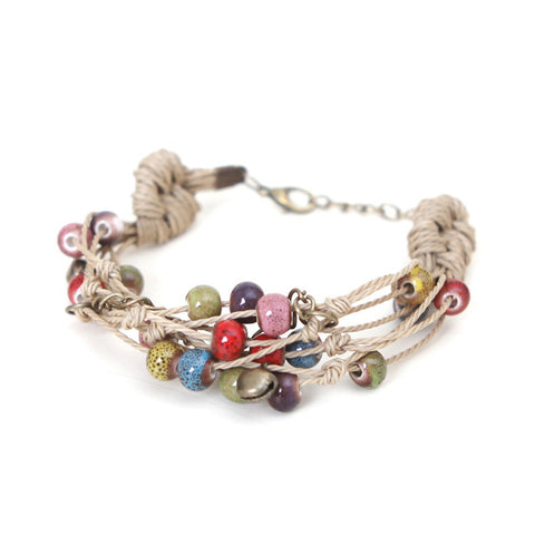 handmade ethnic style ceramic bracelet for women