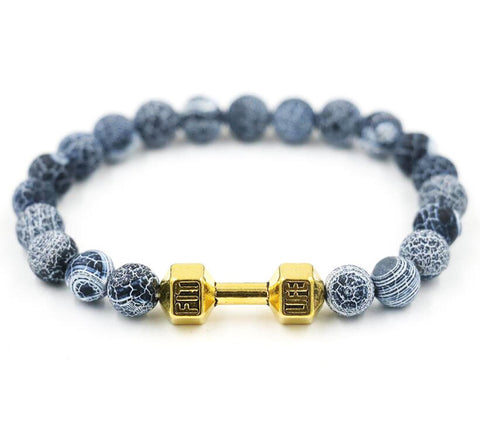 fit life dumbbell beads men's bracelet