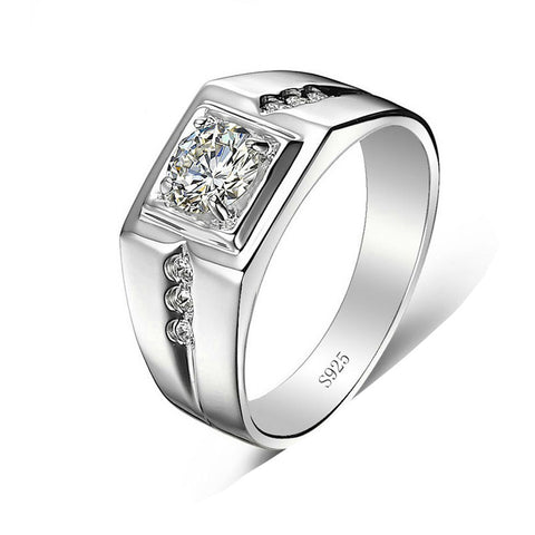 big cz stone ring for men