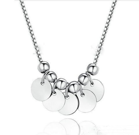 pure 925 sterling silver necklace for women