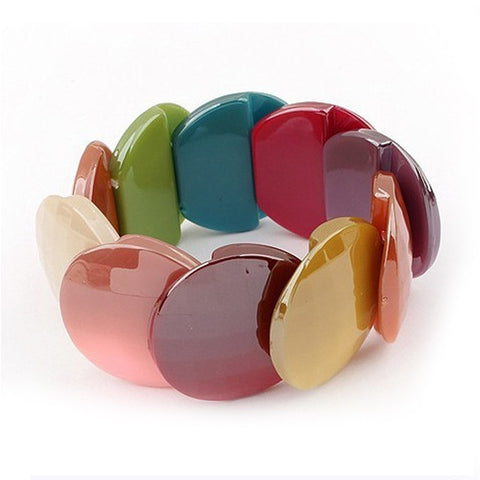 bohemian resin bubble bangle bracelet for women