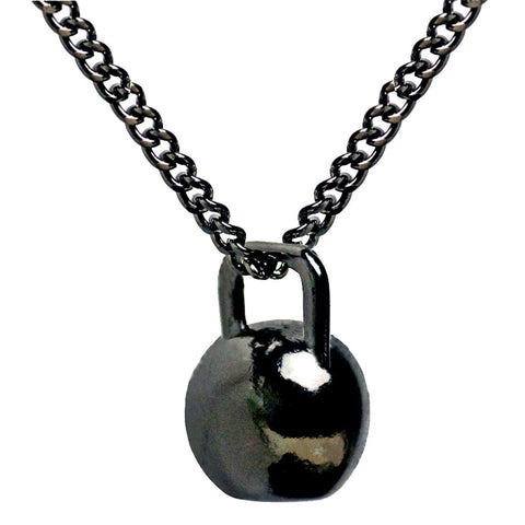 cool stainless steel weight lifting pendant necklace for men