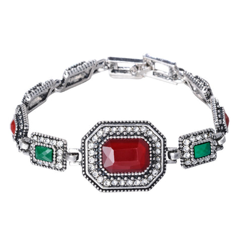 turkey vintage big red crystal bracelet & bangle for women