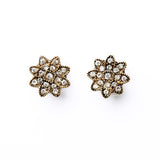 antique hollow flower earrings for women
