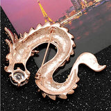 cool rhinestone crystal chines dragon brooch pin for men