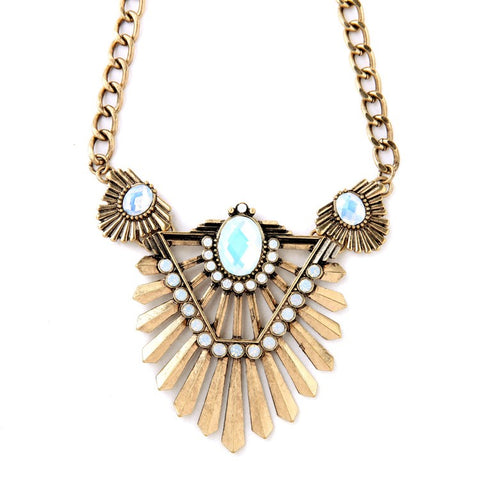 bohemian tassel pendant statement necklace for women