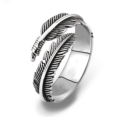 cool silver color father shape open ring for men