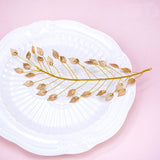 trendy golden leaf vine hair band tiara for women