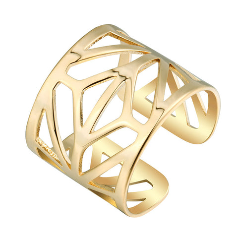 hollow opened statement vintage ring for women