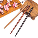 simple chinese hand carved wooden hair stick for women