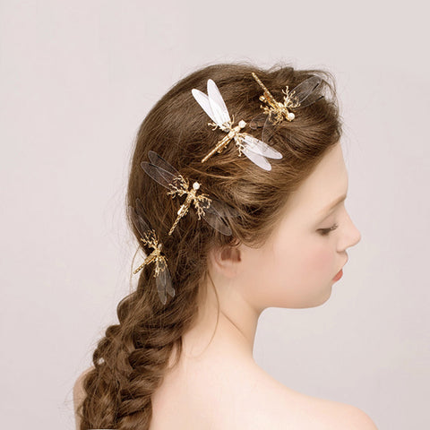 cute transparent butterfly shape hair pin for women