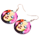 big round sexy marilyn monroe printing earrings for women