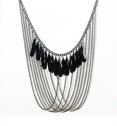 vintage multulayer tassel long necklace & pendant for women