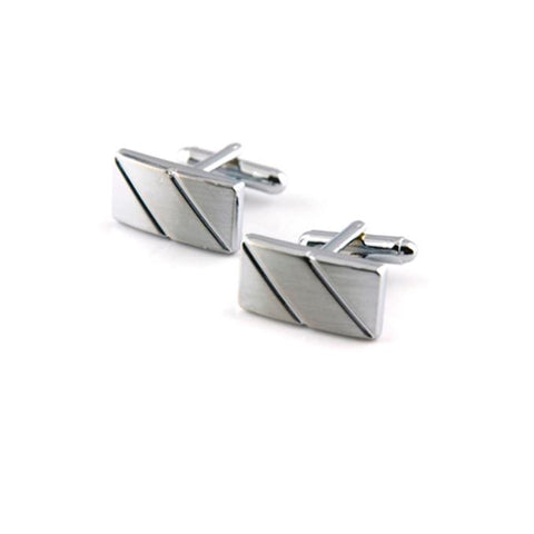 classic silver color cufflinks for men