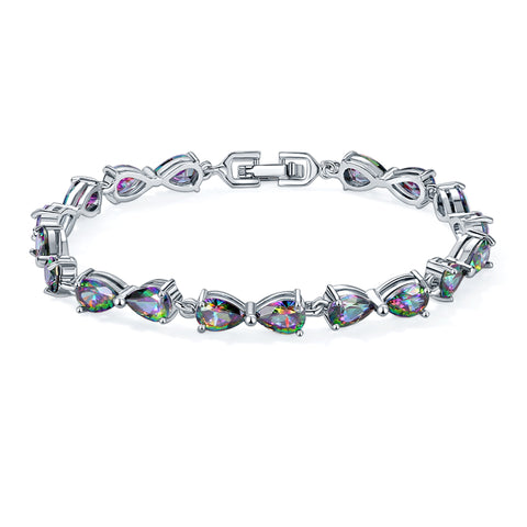 luxury cubic zirconia crystal bracelet for women