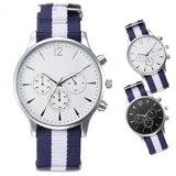 elegant sport canvas strap quartz wrist watch for men