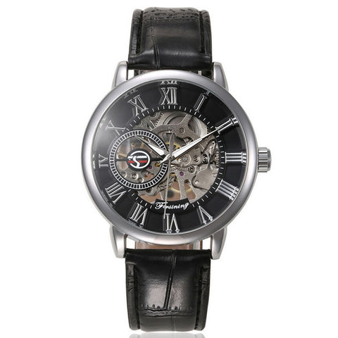 steampunk skeleton automatic mechanical watch for men