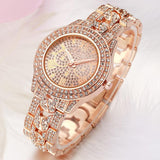 luxury full pave rhinestone crystal wrist watch for women