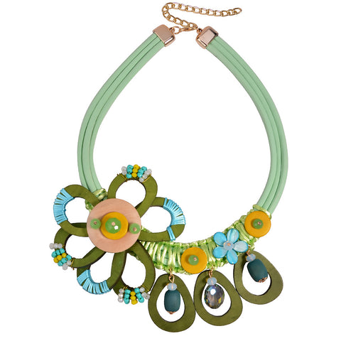 bohemian cute flower choker statement necklace for women