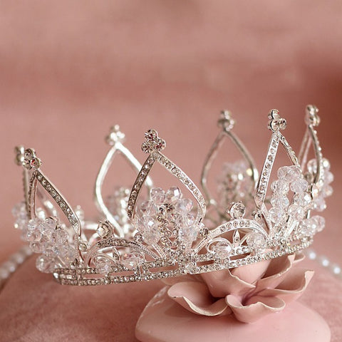 luxury full paved clear crystal hair band tiara crown jewelry