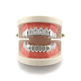 hip hop hollow open faced rhinestone iced out teeth grills