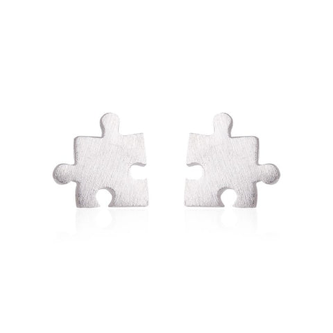 cute tiny puzzle game shape stud earrings