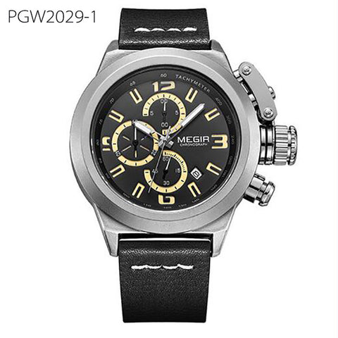 luxury luminous chronograph quartz wrist watch for men