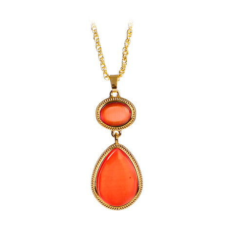 witches of east end red opal pendant necklace for women