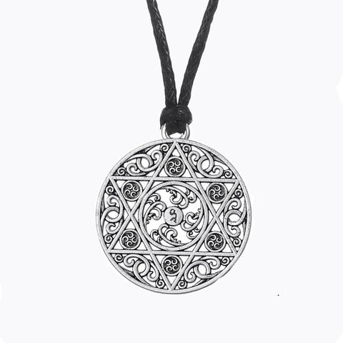 vintage jewish star of david pendant necklace