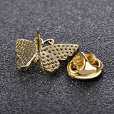 luxury small crystal butterfly brooch pin for women