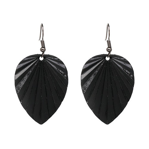 trendy design metal leaf shape drop earrings for women