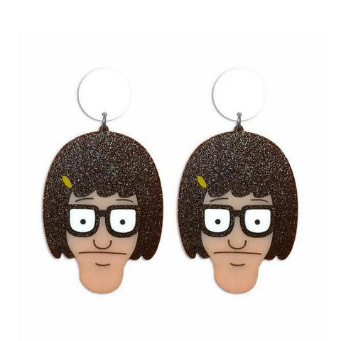 funny figure acrylic drop earrings for women